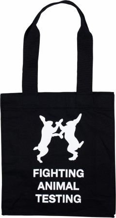 Fighting Animal Testing (tote bag)